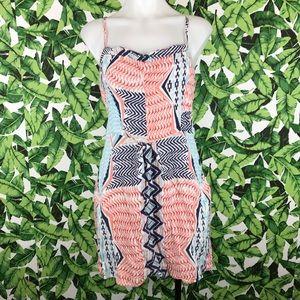 5 for $25 Volcom Coral Blue Print Mini Dress